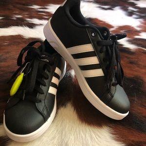 Adidas Cloadfoam Memory Footbed 3 Stripe Black Sz7